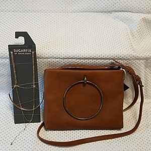 Universal Thread NWT bag and Sugarfix necklace set